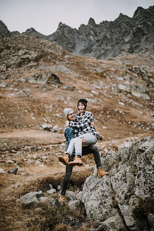 jumping off rocks, colorado surprise proposal, hike mayflower gulch, mayflower gulch proposal, mayflower gulch elopement, mayflower gulch wedding, colorado mountainscape, leadville elopement