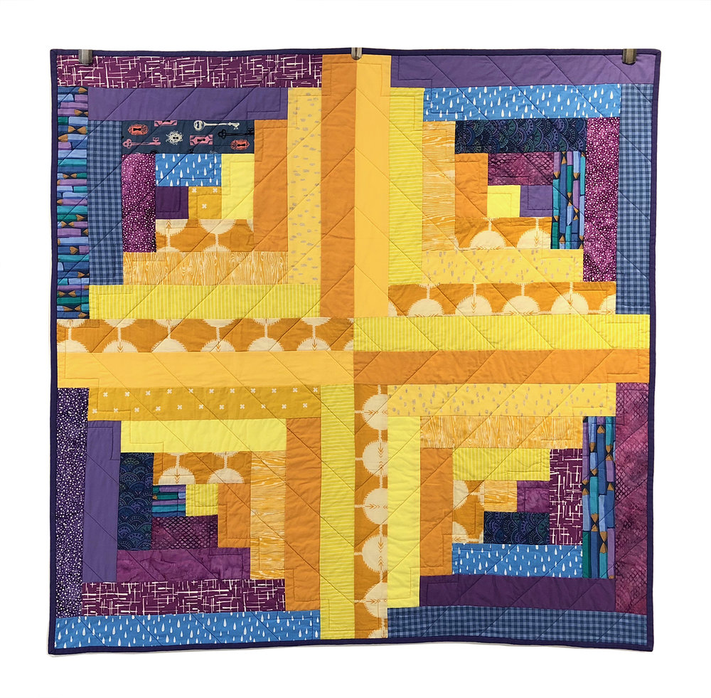 Ellie's Log Cabin Quilt 2018