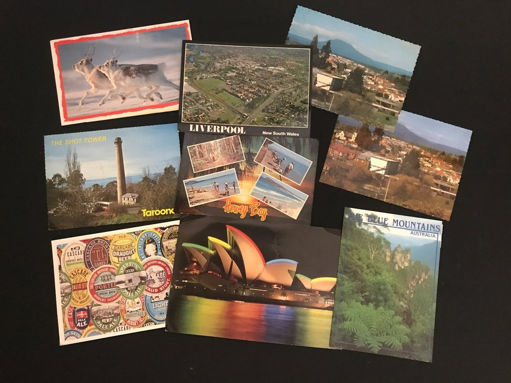 2. Postcards mailed back to me from interstate. (1/3)