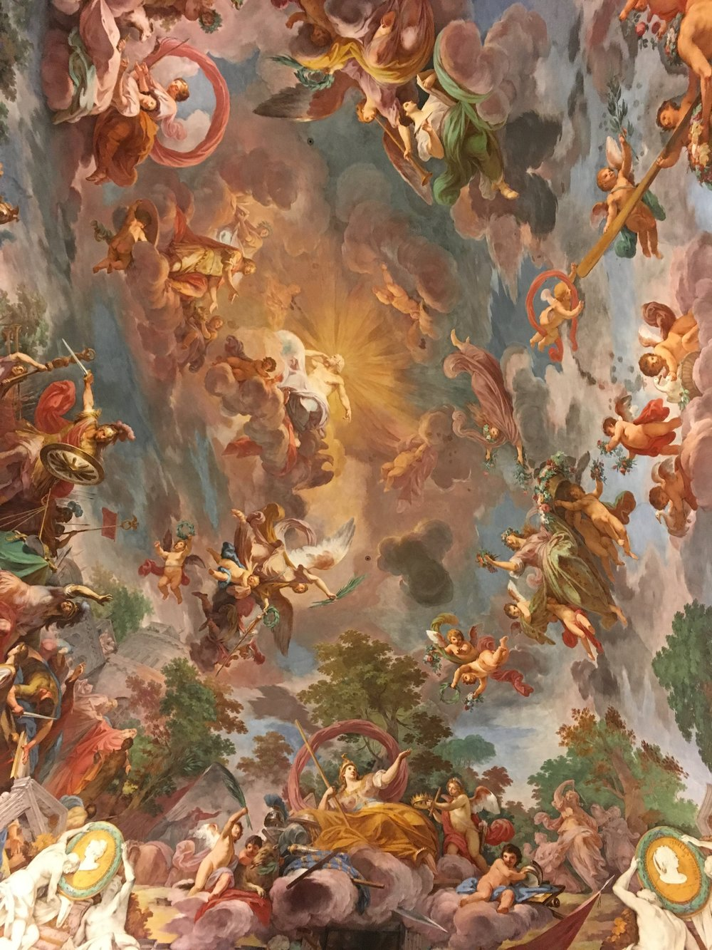 Ceiling Frescos in the Villa Borghese