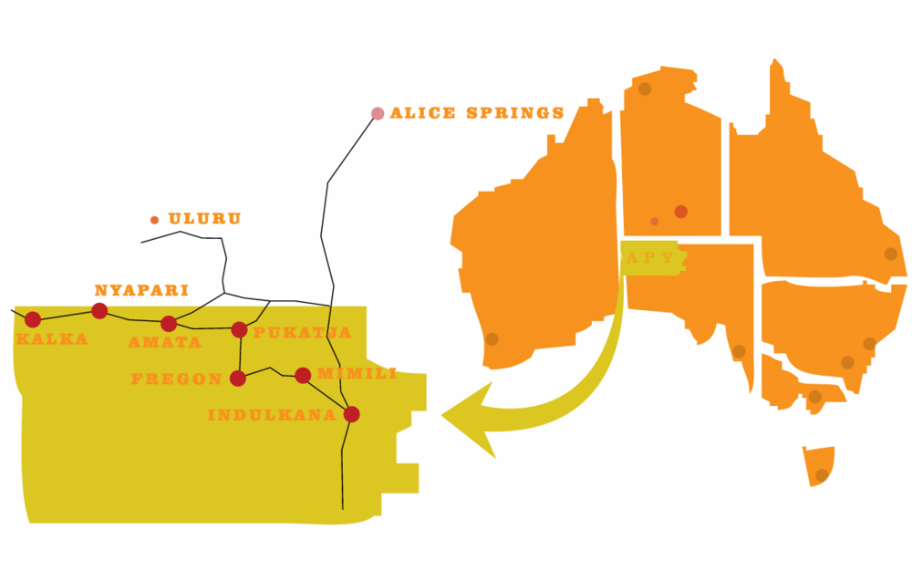 Apy Lands Map APY Collective — APY ART CENTRE COLLECTIVE Apy Lands Map
