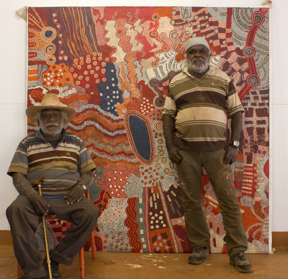 Bernard Tjalkuri and David Miller, Tjungu Palya Artists