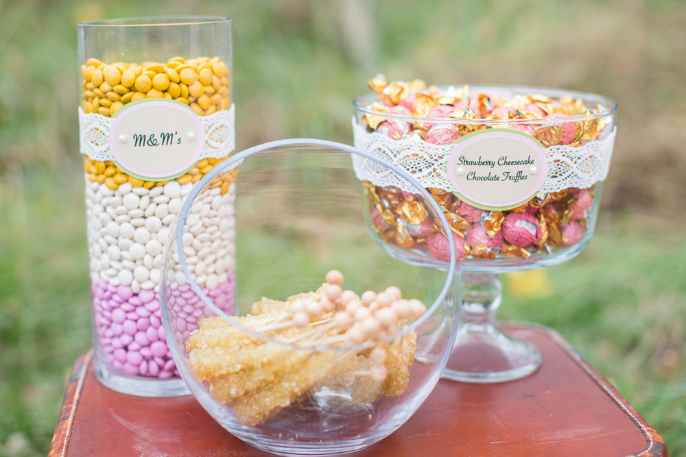 Candy buffet at Karl & Dotti wedding