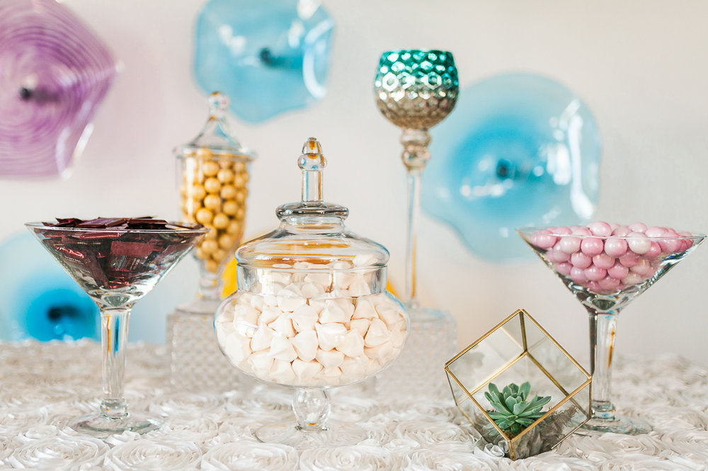 Candy Buffet at Third Degree Glass Factory Wedding