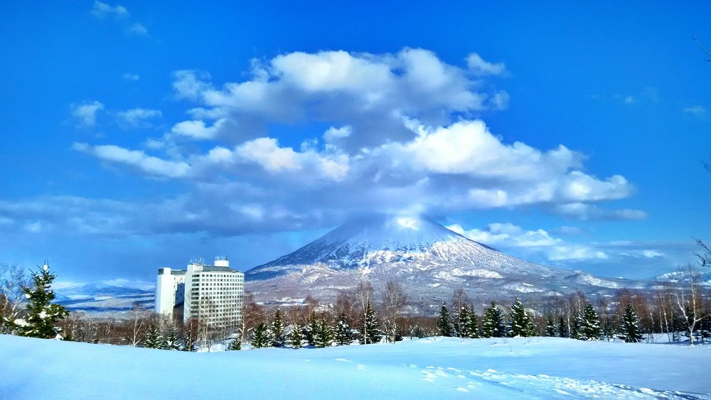 Niseko Hokkaido Japan   Breath-taking views of Mt Yotei and the challenging slopes awaits skiing and snow boarding enthusiats alike.