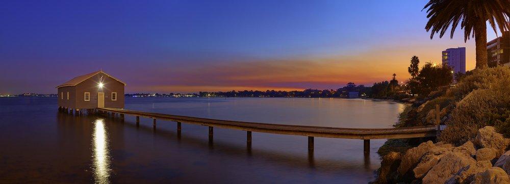 Painted Sky   Crawley Edge Boatshed, Perth Australia