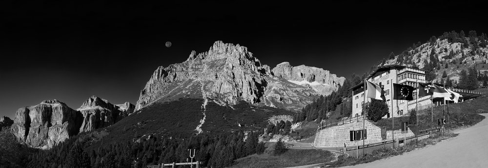 Moon Rise   Pordoi Dolomities Italy