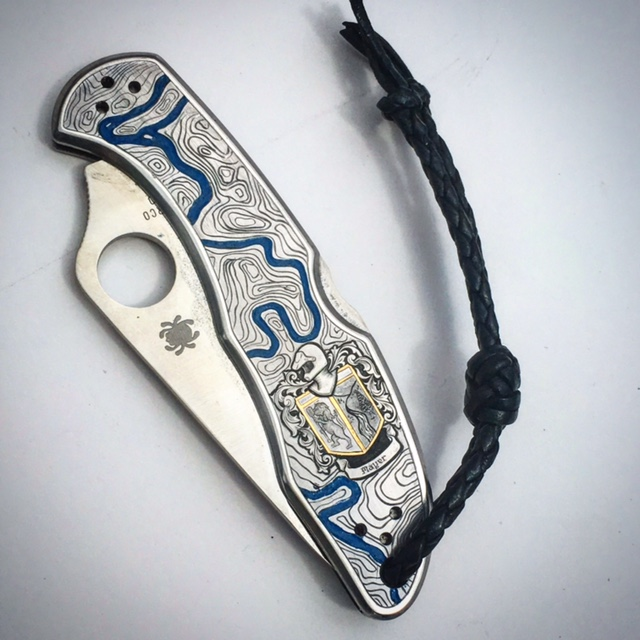Custom Engraved Spyderco