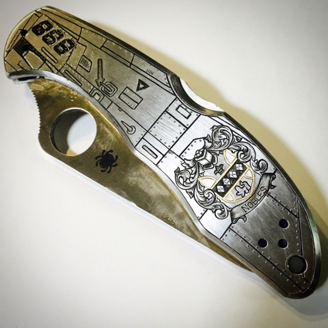 Fully Custom Engraved Spyderco