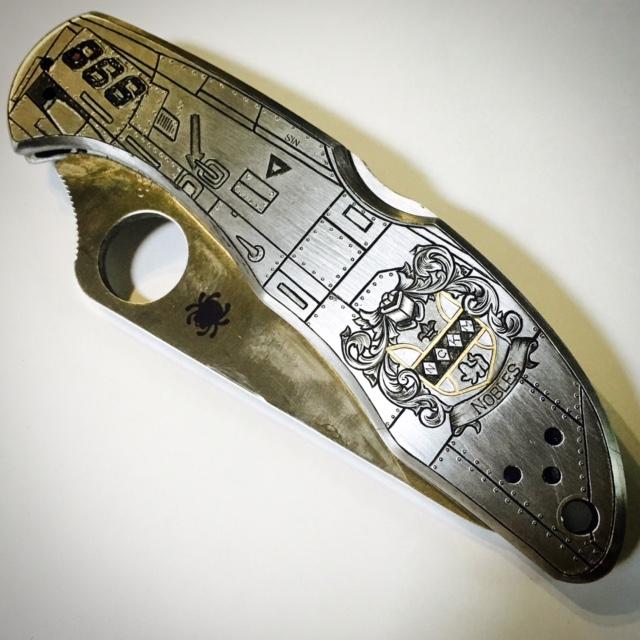 Fully Custom Engraved Spyderco