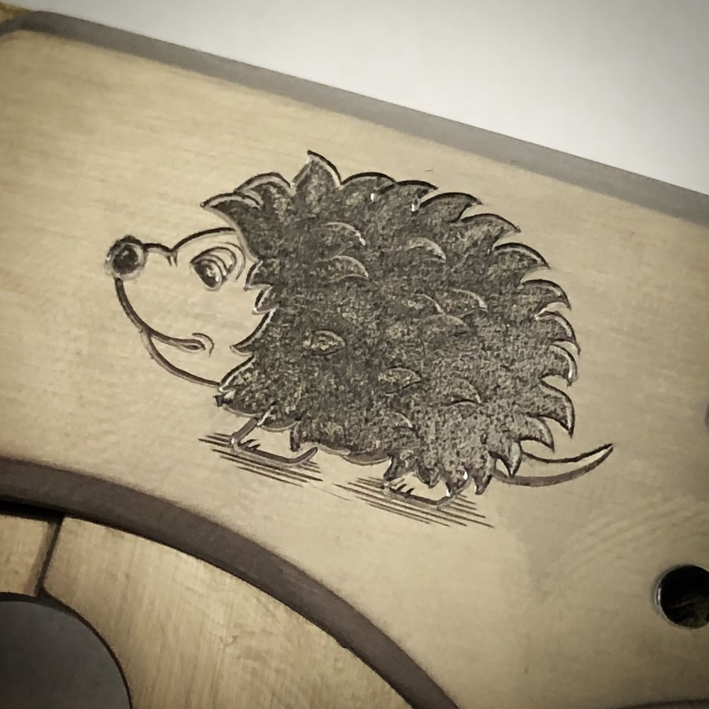 Hand Engraved Hedgehog