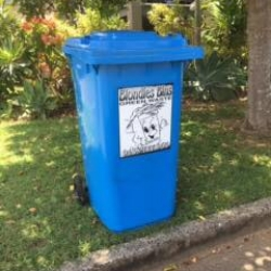 Blue Wheelie Bin - Garden Bin