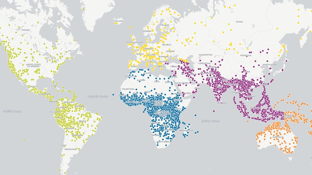 Languages in the World (Source: www.ethnologue.com)