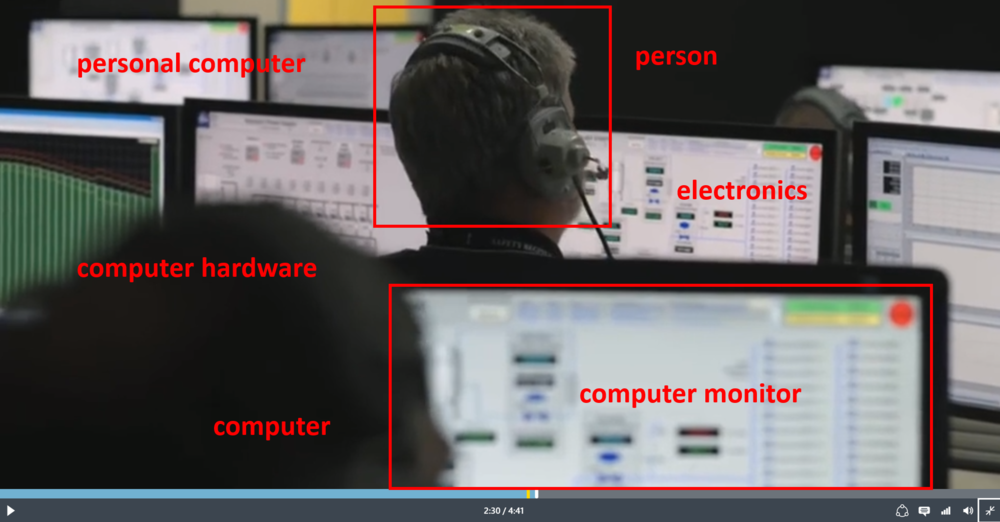 videospace search engine object detection