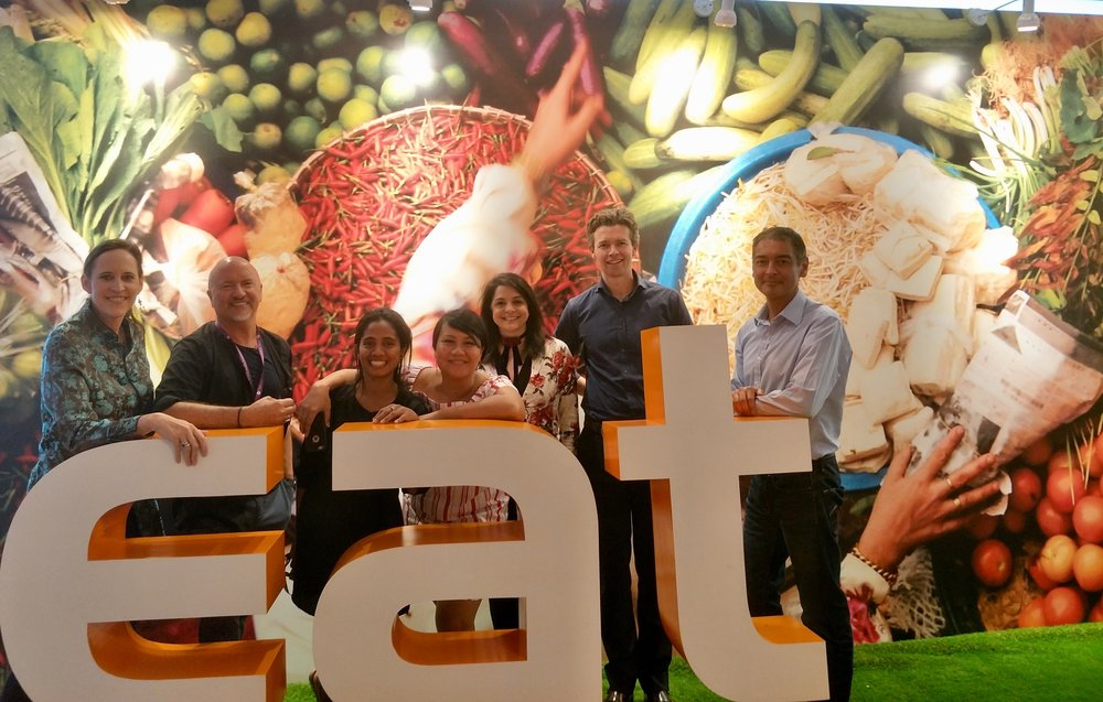 - Alva and Sous Chef Leonilda with fellow Launch Food Innovators and the SecondMuse Team. EAT Asia-Pacific Forum in Jakarta, October 2017