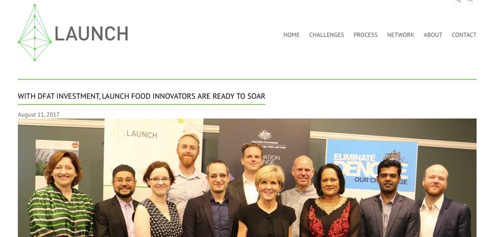 11 AUGUST 2017 -PRESS RELEASE - WITH DFAT INVESTMENT, LAUNCH FOOD INNOVATORS ARE READY TO SOARThe