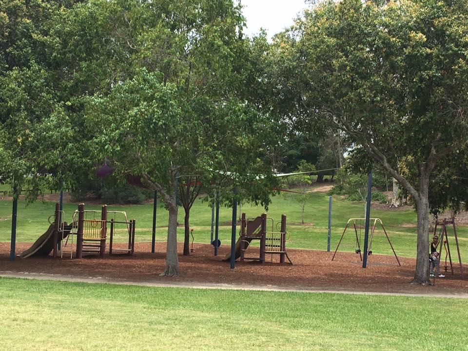 Just one of the playgrounds at Sherwood Arboretum