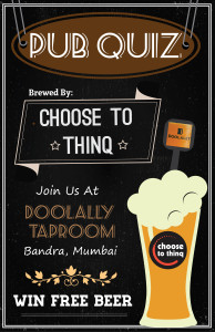 Choose To Thinq - Mumbai Doolally Pub Quiz