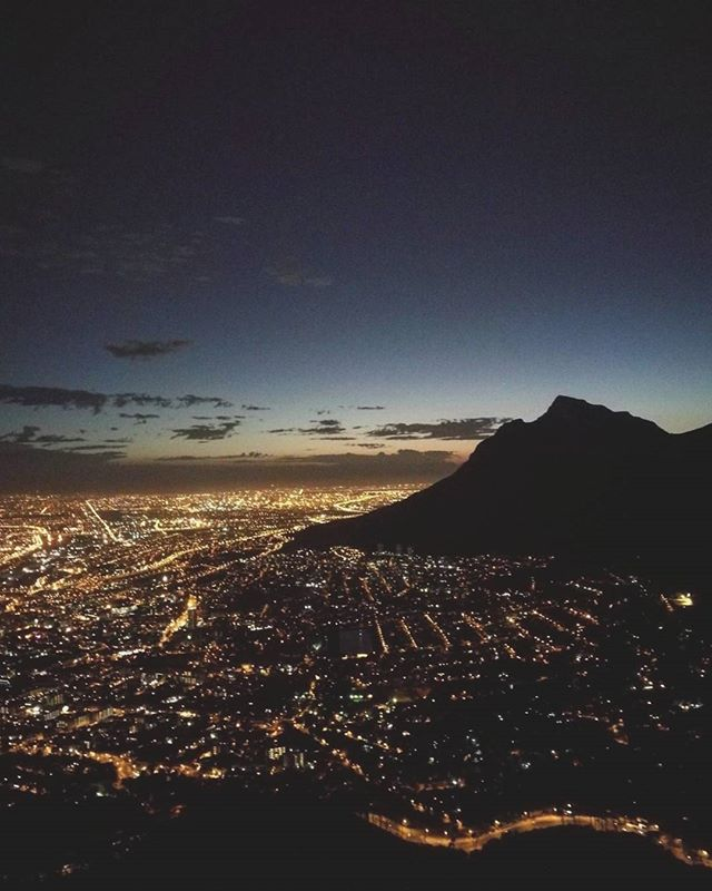 5 AM, hiking up Lion's Head for sunrise