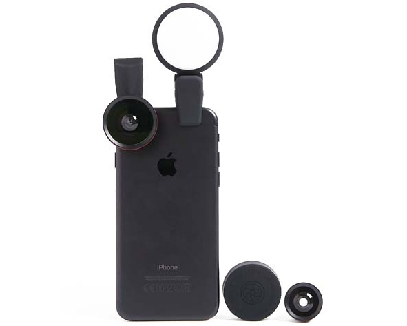 Clip-On Lens & Light Kit Three lenses & light phone accessories - Available at M&S, £19.50
