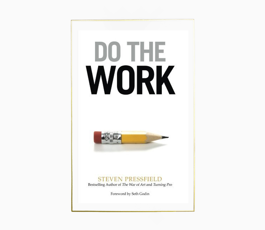 - Do the Work is a weapon against Resistance - a tool that will help you take action and successfully ship projects out the door. A lot of us are guilty of procrastinating, particularly when it comes to trying to complete big projects. Do The Work helps you with just that - to complete big pieces of work from start to finish and predicts those 'hit the wall' moments. It is a great step-by-step guide that helps you get any long-form project from the first page to the last.