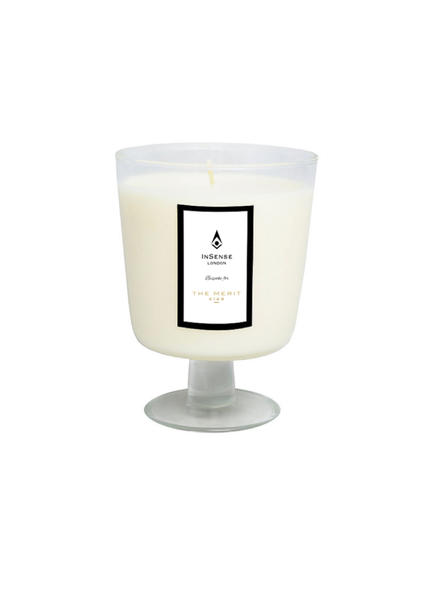 OUR BESPOKE INSENSE LONDON CANDLE, £35, AVAILABLE ONLY ON OUR WEBSITE - Perfectly blended organic scents are the signature of InSense London, a luxurious aromatherapy brand. We created an elegant, refreshing yet strong and almost masculine scent so that it represented the empowering message of The Merit club. A distinctive scent with hints of neroli and grapefruit infused with the warmth of vanilla and amber. These pure essential oils have properties to relieve anxiety, uplift your mind and spirit, help alleviate anxiety and heart palpitations, relieve insomnia and even help prevent or treat stress-related depression. We can't get enough of it!