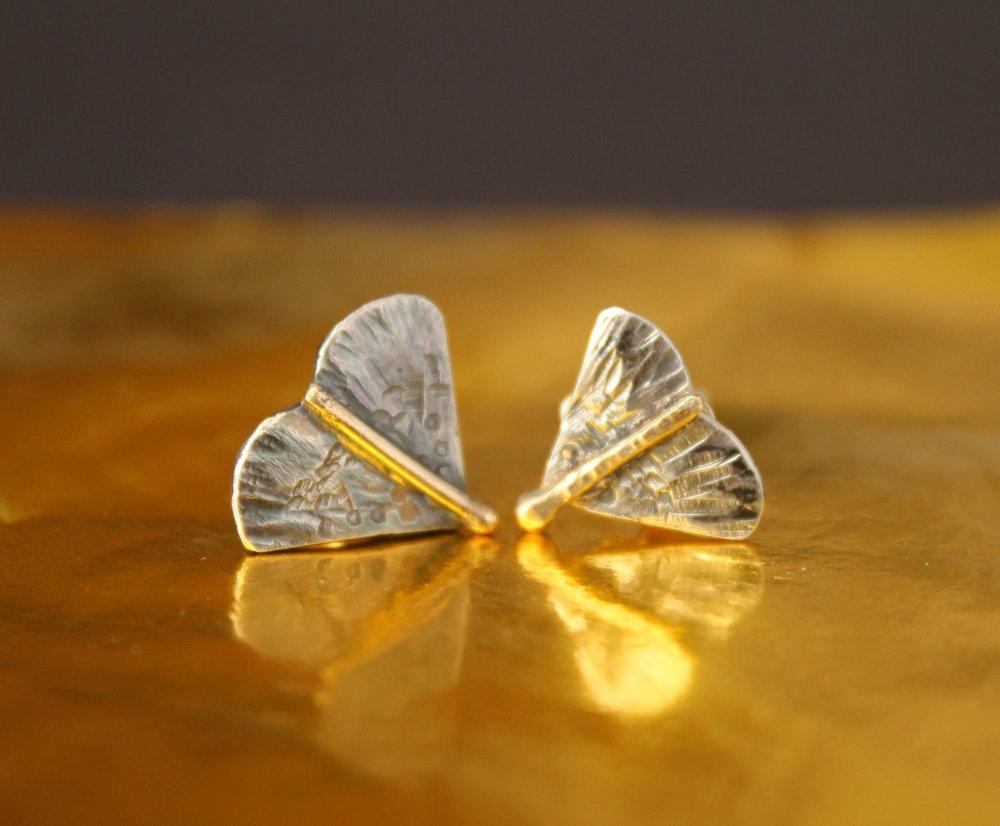 Moth Stud Earrings