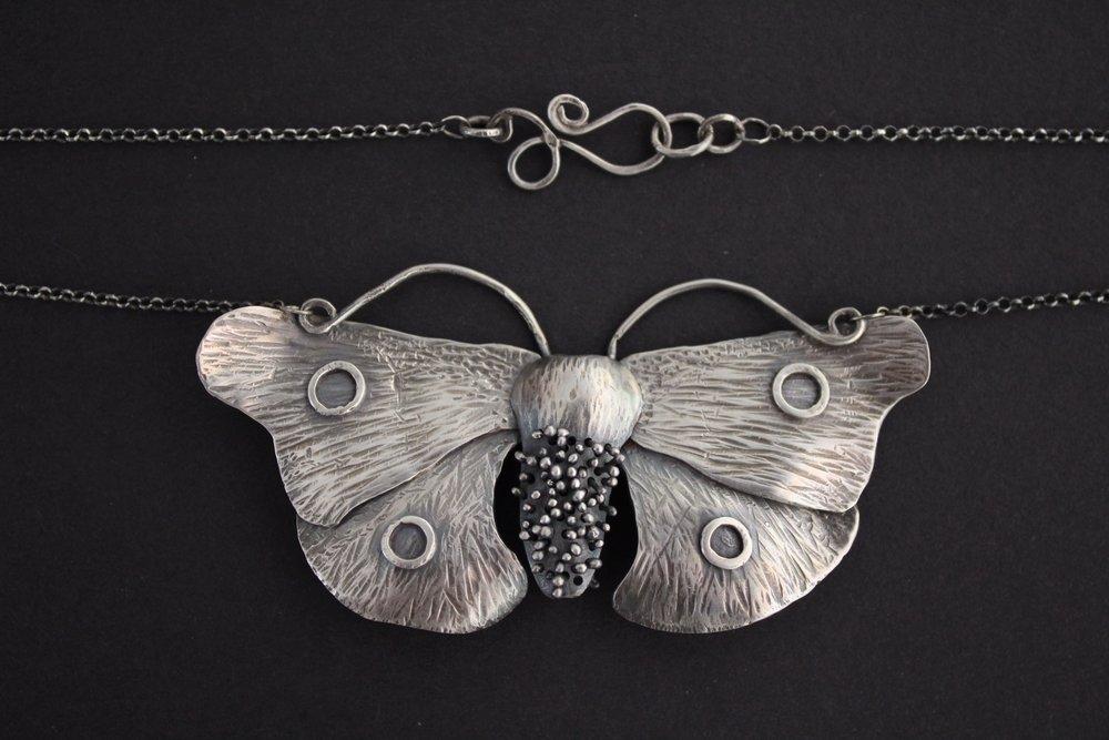 Goth Moth Necklace