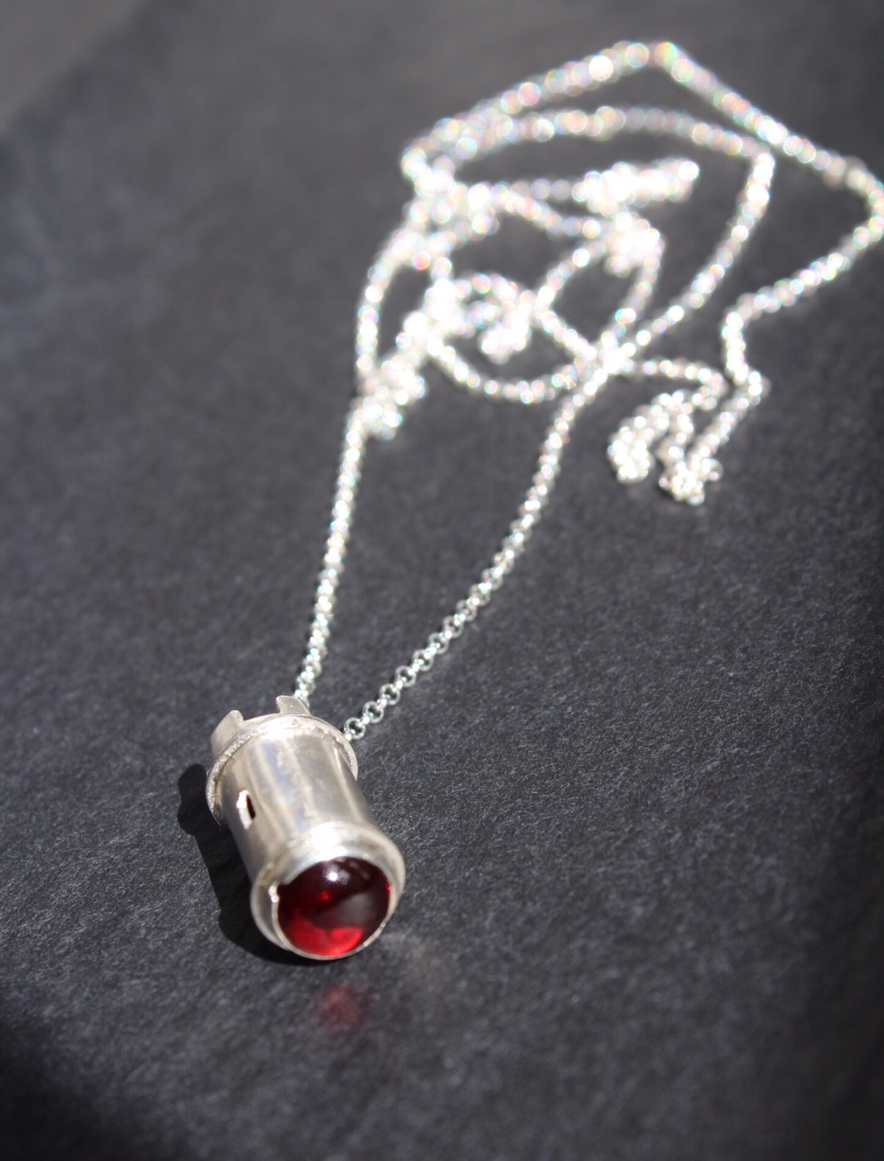 Garnet Tower Pendant