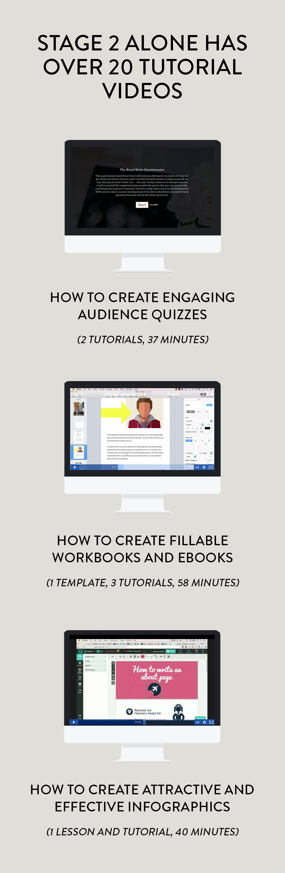 The tutorial videos in Build Your Information Empire actually take you step-by-step through how to create, launch, and grow your products, email list, funnels, and more.