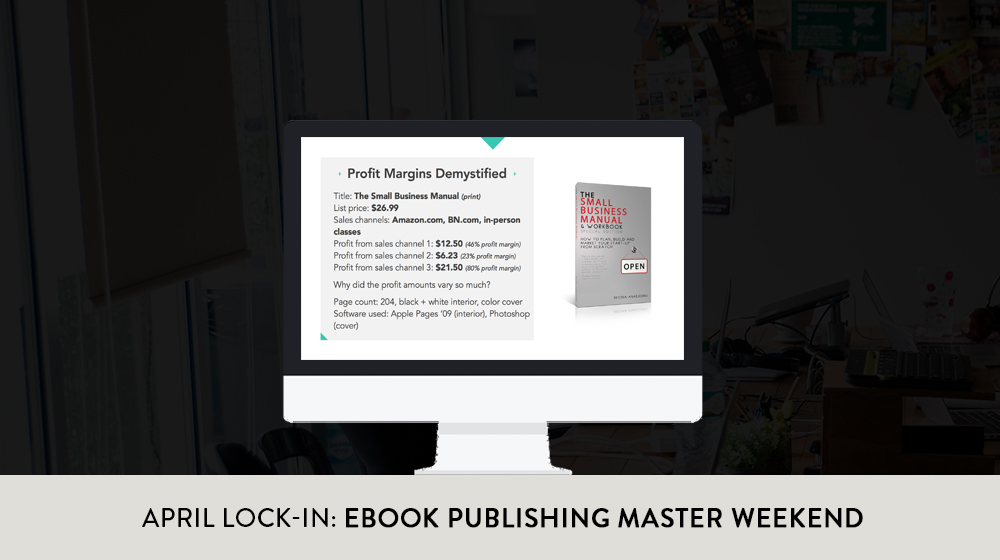Time for a masterclass on publishing your own eBooks