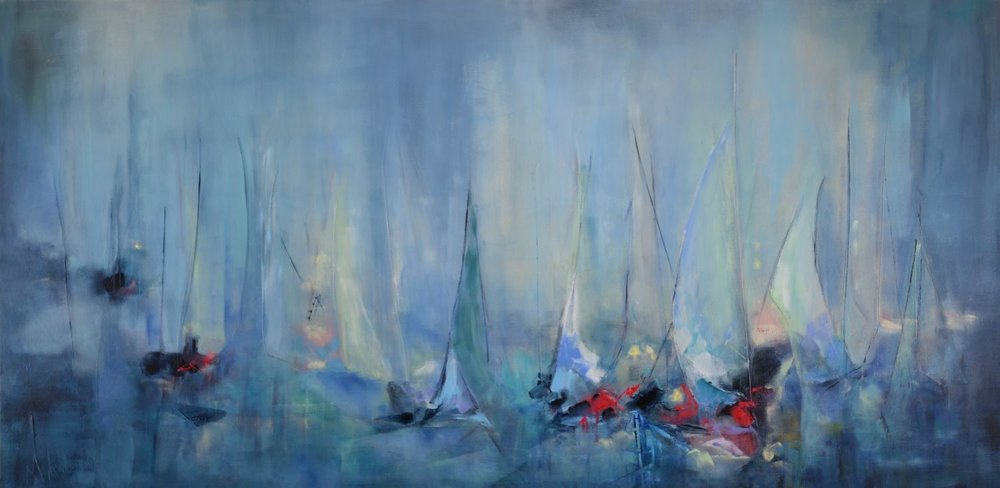 Misty Sails: 72x36 (SOLD)