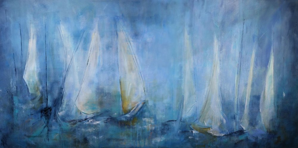 Symphony of the Sails: 72 x 36 (SOLD)