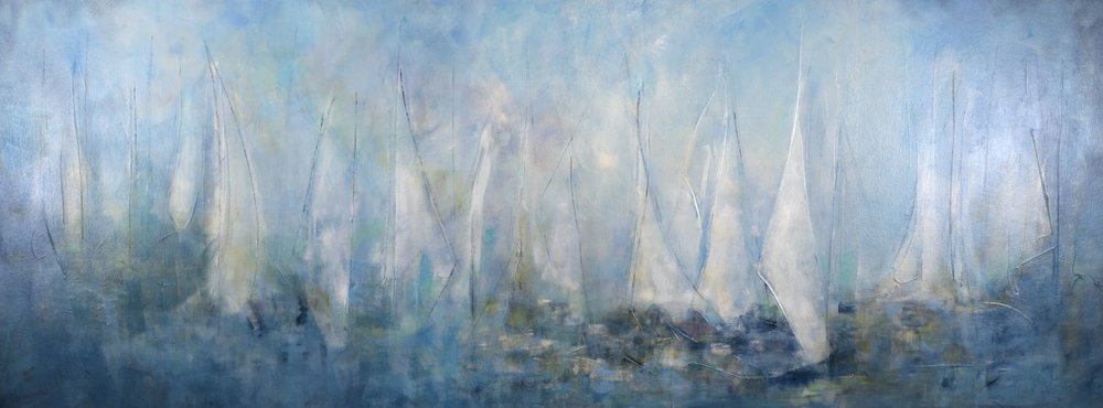 Rythmic Sails: 96x36 (SOLD)