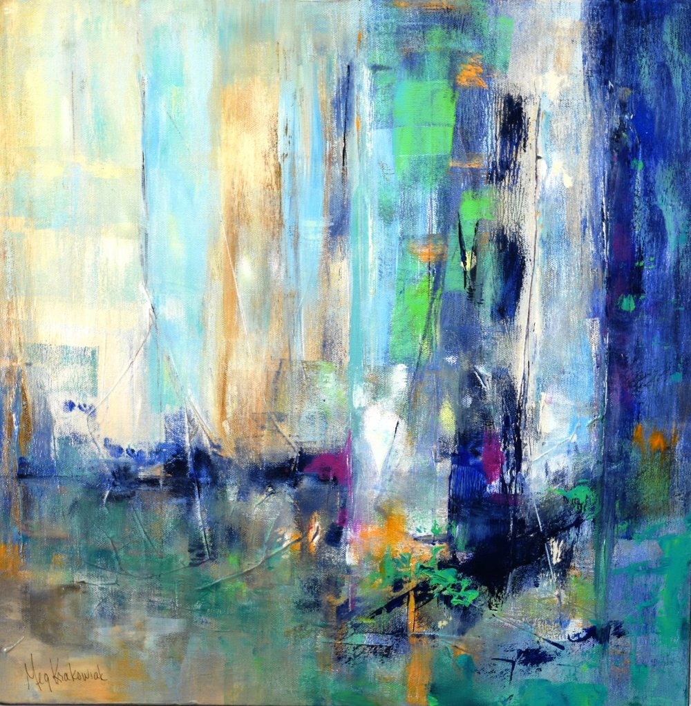 Southern Lights: 20 x 20 (SOLD)