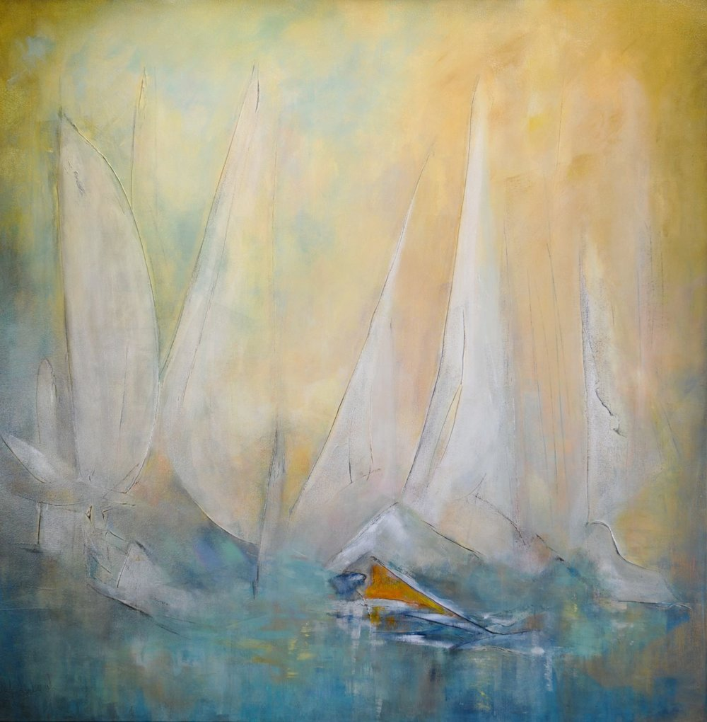 Catch the Wind: 48 x 48 (SOLD)