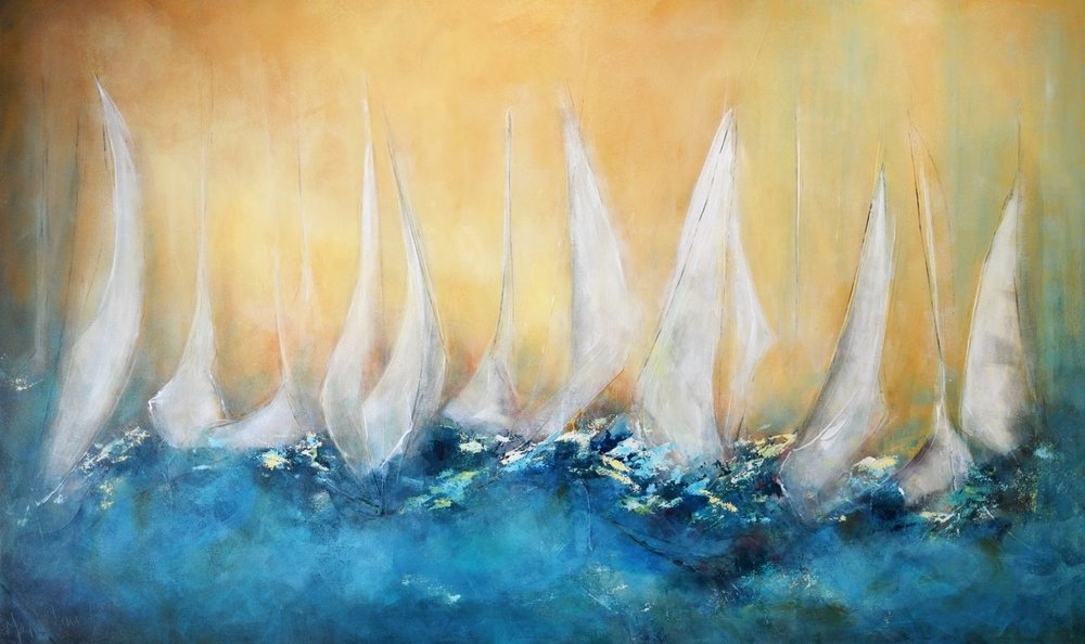 Reaching Fleet: 60x36 (SOLD)