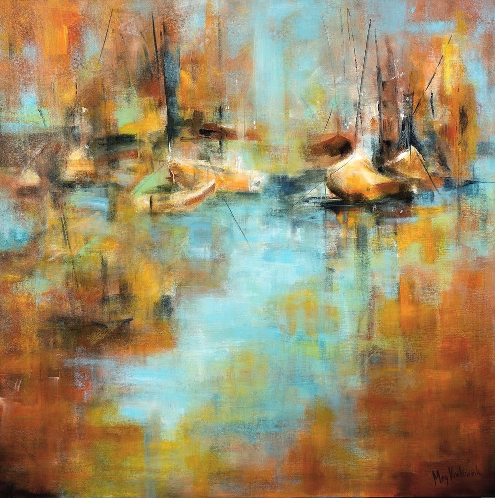 Beautiful Harbor - 36x36