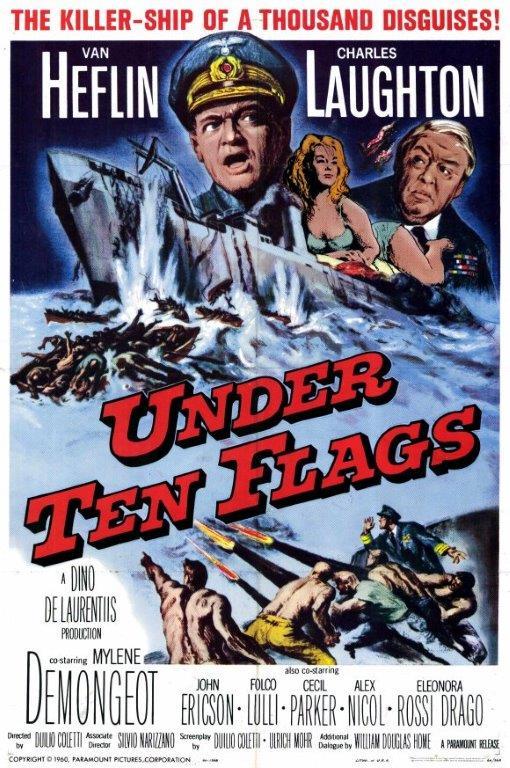 """Under Ten Flags"" starring Van Heflin & Charles Laughton (Paramount)"