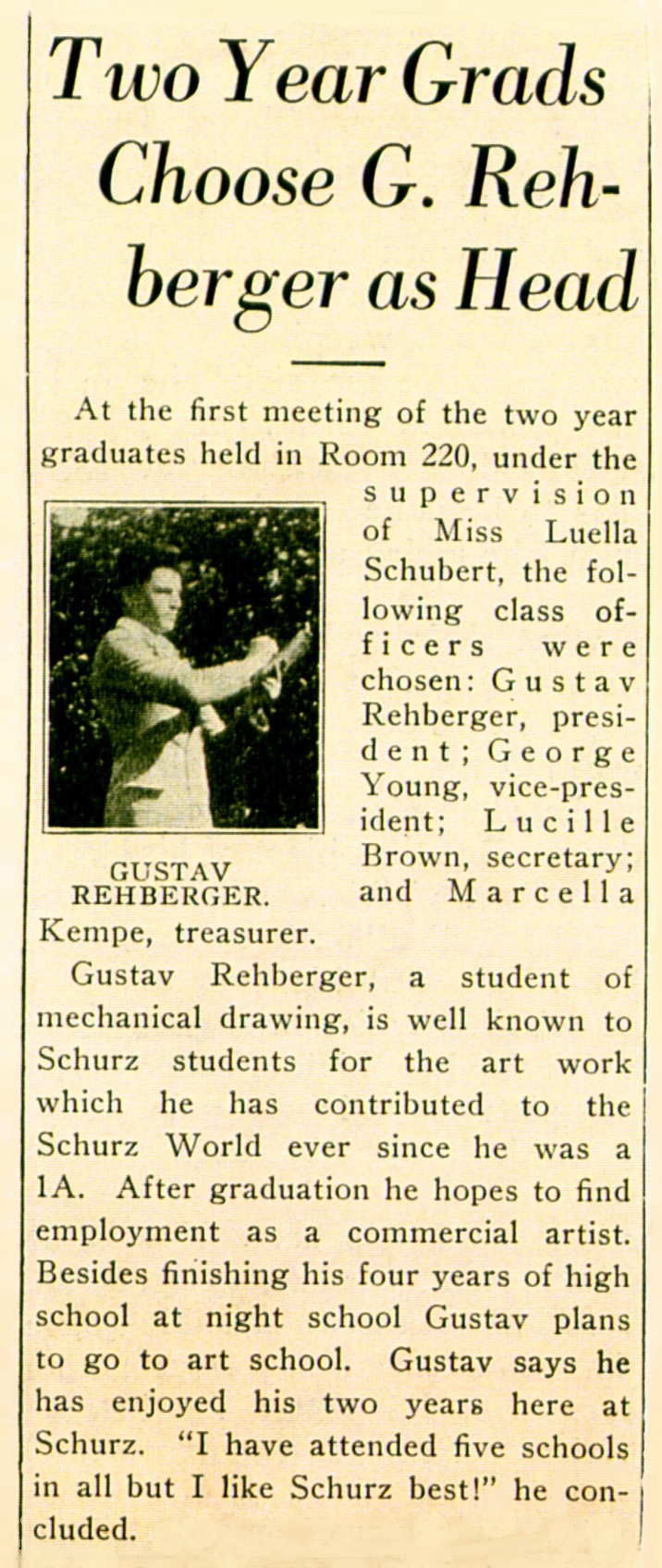 1929 - The Literary Dijest - Carl Schurz High School