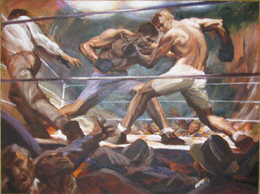 1974 - Limited Edition Lithograph, DEMPSEY vs. TUNNEY