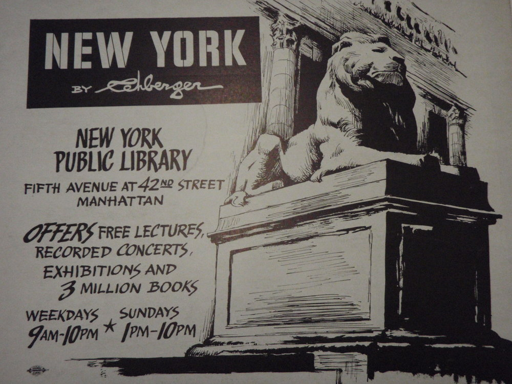 NEW YORK by REHBERGER  1948 #12   Subway Poster  - New York Subways Advertising Co..JPG