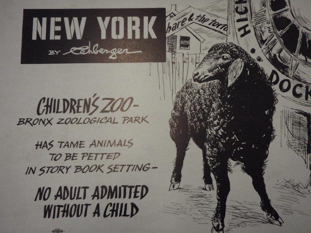 NEW YORK by REHBERGER 1948 #15   Subway Poster - New York Subways Advertising Co..JPG