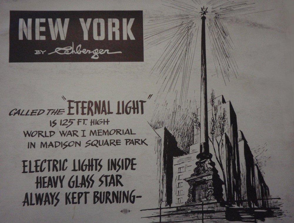 NEW YORK by REHBERGER 1948 #19   Subway Poster  - New York Subways Advertising Co..JPG
