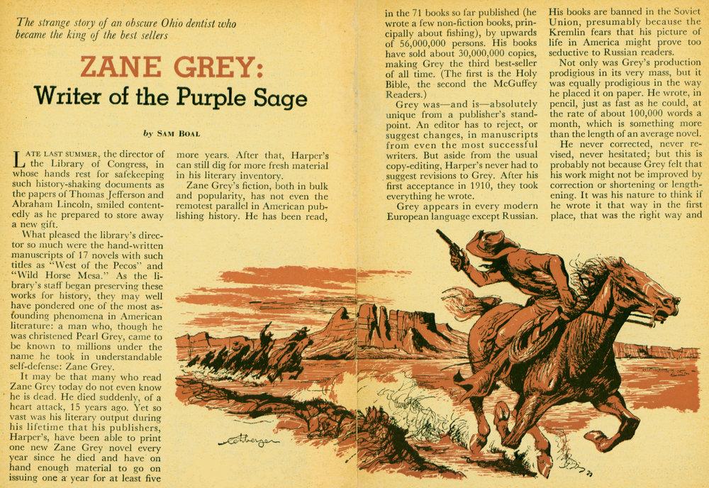 June 1954 - Zane Grey-Writer of the Purple Sage