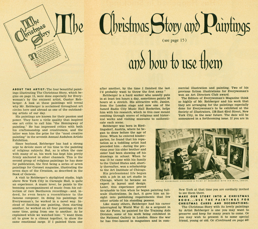 December 1956 -  The Christmas Story