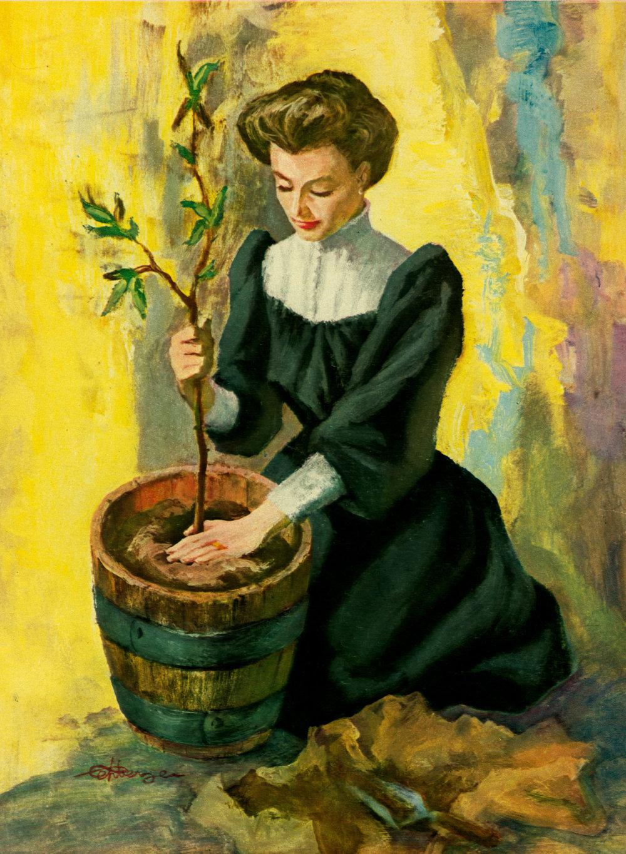 June 1957 - Grandma and Her Lemon Tree