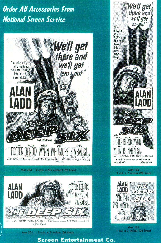 """THE DEEP SIX"" starring Alan Ladd (Warner Bros.)"