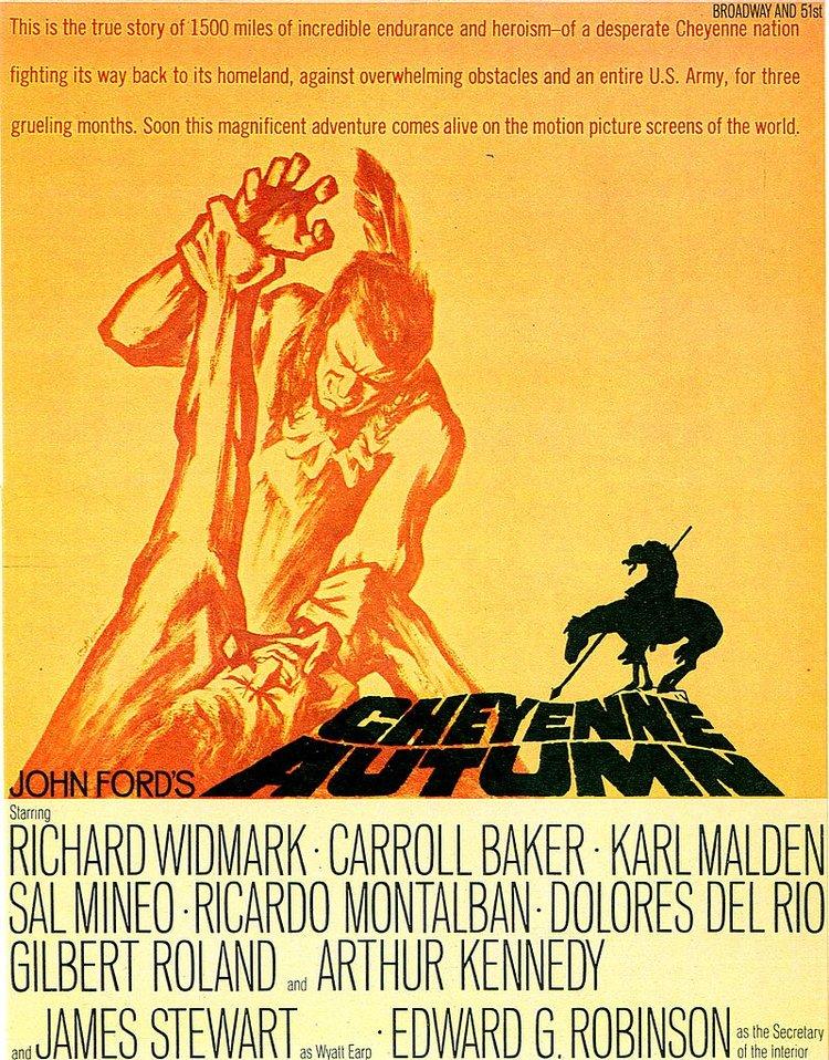 """Cheyene Autumn"" starring Richard Widmark (Warner Bros.)"