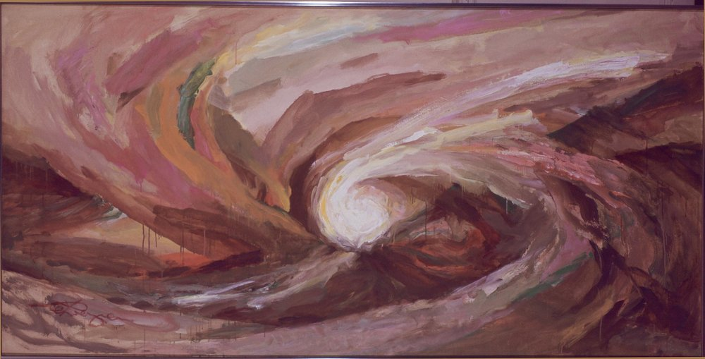 """Envelopment"" (Oil, 48 x 96 in)"